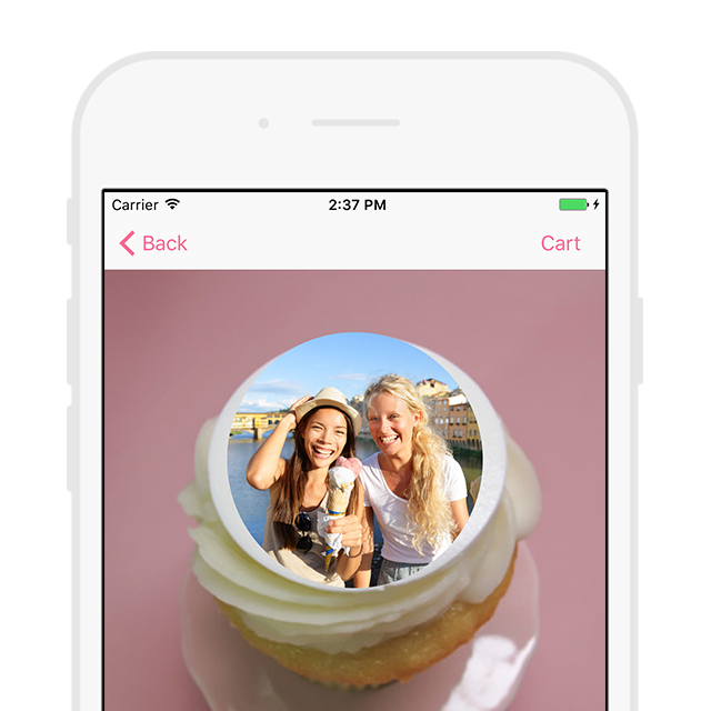 Same-Day Cupcake Delivery, Custom Photo Cupcakes